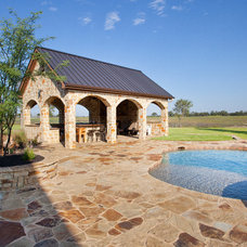 Traditional Pool by Texas Timber Frames