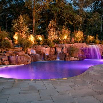 Saddle River NJ -  Swimming Pool Lighting