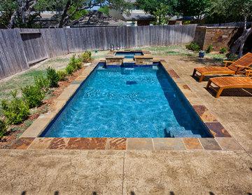 San Antonio Rectangle Plunge Pool/Spa