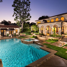Mediterranean Pool by Jennifer Bevan Interiors