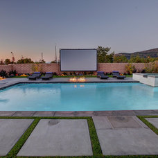 Contemporary Pool by Aqua-Link Pools and Spas