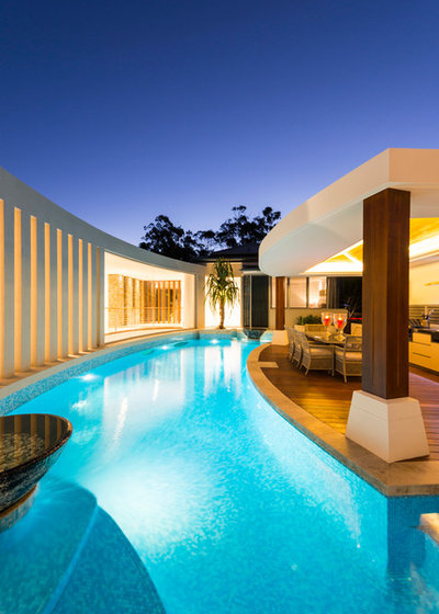 Contemporary Pool by JB Pool Construction