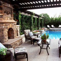 mediterranean pool by Green Scene Landscaping & Pools