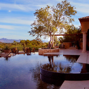 This is an example of an eclectic pool in Phoenix.