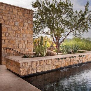 Pool fountain - contemporary infinity pool fountain idea in Phoenix
