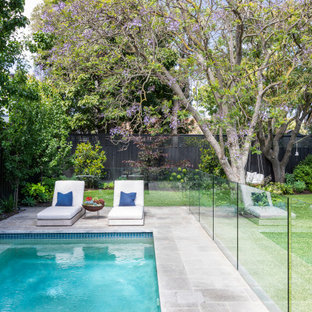 Inspiration for a mid-sized contemporary pool in Melbourne.
