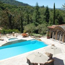 Mediterranean Pool by William MastonArchitect & Associates