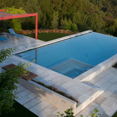 contemporary pool by Design Focus Int'l Landscape Architecture & Build