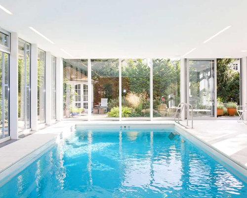 groer gefliester moderner indoor pool in rechteckiger form mit poolhaus in bremen - Pool Design Ideen Bilder