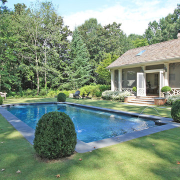 Screened porch and pool