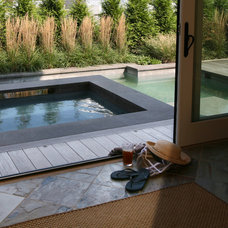 Beach Style Pool by Asher Associates Architects