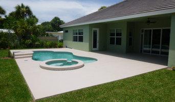 Seamless slate texture on pool deck