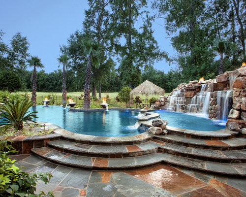 Tropical new orleans pool design ideas remodels photos for Pool design new orleans