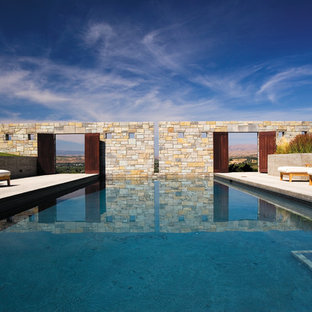 Pool - large contemporary rectangular pool idea in Seattle