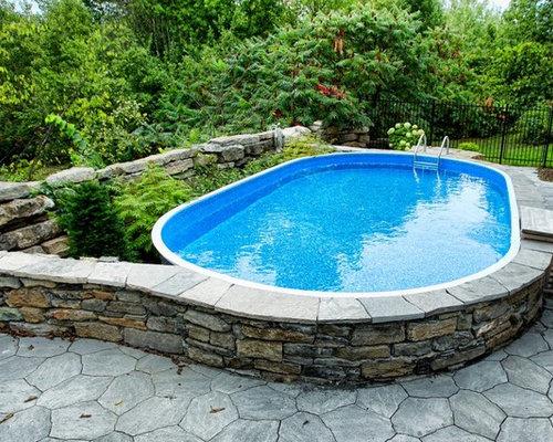 Foto e idee per piscine piscina fuori terra ottawa for Pavimentazione per piscine fuori terra