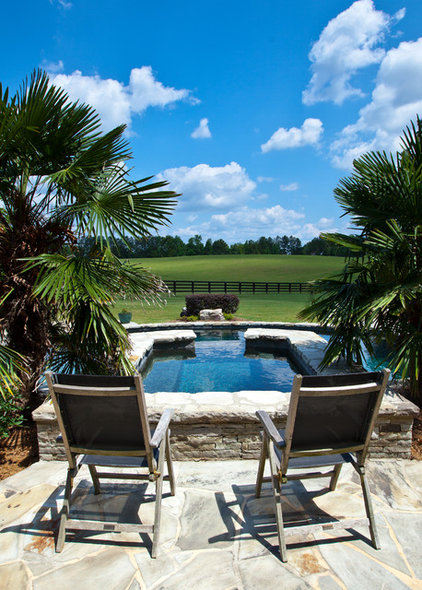 Traditional Pool by Shane LeBlanc Designs