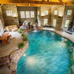 Portland Traditional Indoor Pool Swimming Pool Design Ideas Pictures Remodel And Decor