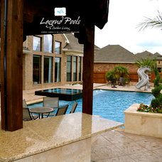Contemporary Pool by Legend Pools, LLC
