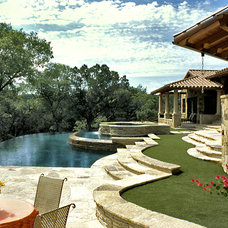 Traditional Pool by Jon Luce Builder