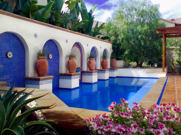 Mediterranean Pool by Studio H Landscape Architecture