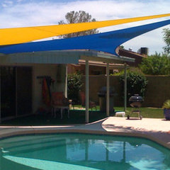 contemporary pool Shade Sails by Tenshon, LLC