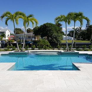 Shell Beige Limestone Pool at Bradenton,FL