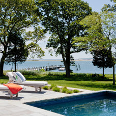 Beach Style Pool by Wettling Architects