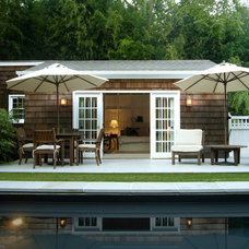 Beach Style Pool by SchappacherWhite Architecture D.P.C.
