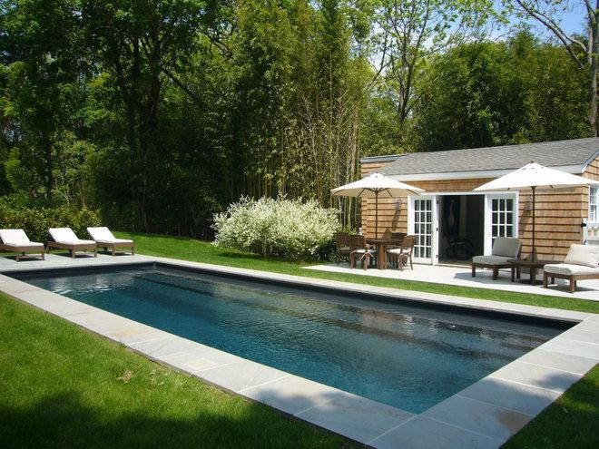 Beach Style Pool by SchappacherWhite Architecture D.P.C.
