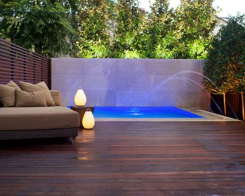 Small infinity pool design ideas renovations photos - Small infinity pool ...