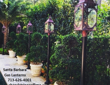 Sheryl's Santa Barbara Gas Lanterns