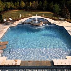 Traditional Pool by VanBrouck & Associates, Inc.