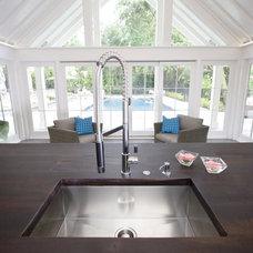 Beach Style Pool by Clawson Architects, LLC