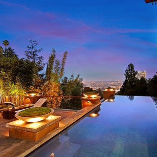 Inspiration for an asian pool remodel in Los Angeles