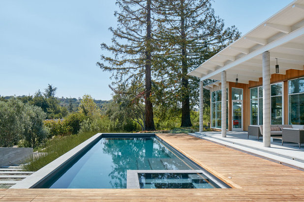 Contemporary Pool by Malcolm Davis Architecture