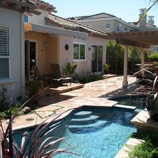 Traditional Pool by DuBridge Landscape Architecture