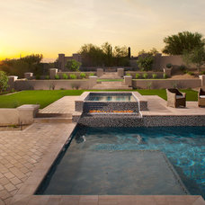 Contemporary Pool by Luster Custom Homes