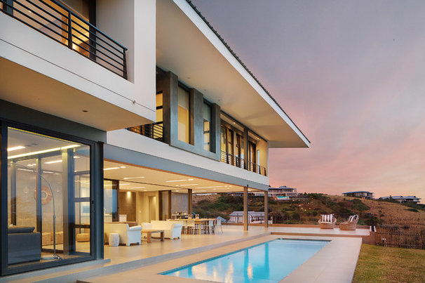 Contemporary Pool by LevEco Architects