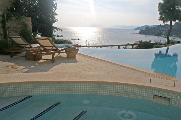 Contemporary Pool by Poolstones by Sofikitis