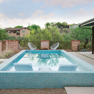 Pool   Small Southwestern Backyard Concrete And Rectangular Pool Idea In  Phoenix