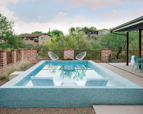 pool small southwestern backyard concrete and rectangular pool idea in phoenix - Small Pool Design Ideas