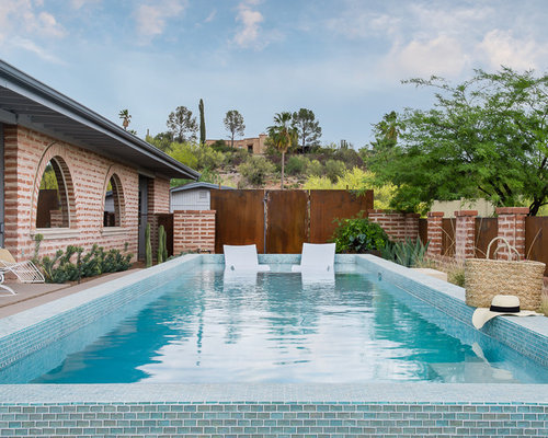 example of a small southwest backyard concrete and rectangular pool design in phoenix - Small Pool Design Ideas