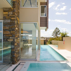 Contemporary Pool by Slater Architects