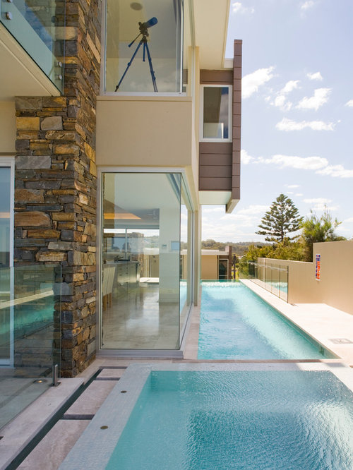 Rectangular swimming pool design ideas remodel pictures for Pool design houzz