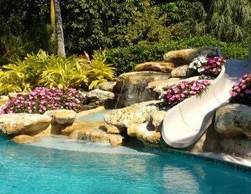 Slide and Waterfall