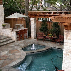 Contemporary Pool by Original Landscape Concepts Inc