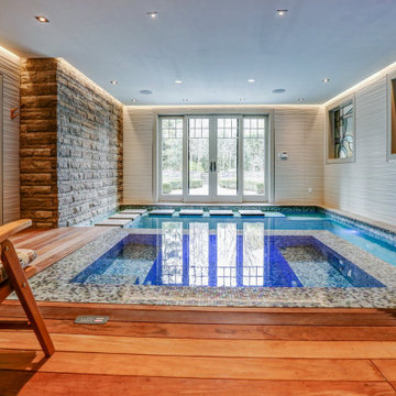 Small Indoor Pool Gets a Total Makeover