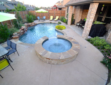 Small Natural Frisco Pool and Spa