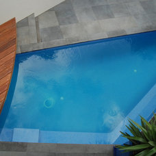 Modern Pool by Space Landscape Designs