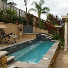 Mediterranean Pool by Affordable Landscaping Solutions